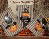 Prim Halloween Tucks CATS PUMPKINS Bowl Fillers FITOFG