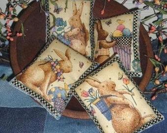 Bunny Rabbit Tucks Mini Pillows EASTER Ornies Spring Bowl Fillers