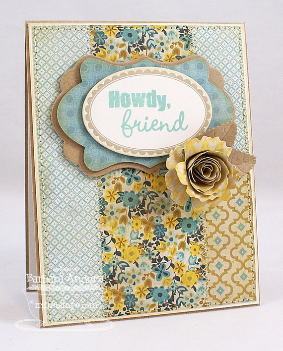 Howdy, Friend - Handmade Card