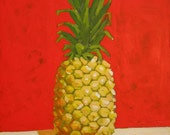 "Original Pineapple Painting . ""Pineapple"" 20x16in."