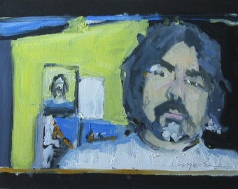 "Original Self Portrait Painting . ""Self Portrait July 2010"" 11x14 in."