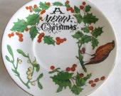 Merry Christmas Saucer Collingwood China