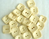 RESERVED FOR K123  Square Cream Buttons 22 Vintage