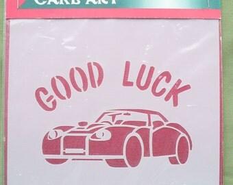 Good Luck Car Stencil, Cake Decorating Stencil, Craft Stencil