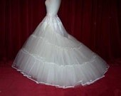 5 Layer Bridal petticoat in stiff net with extended train