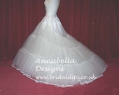 5 Layer stiff net petticoat with extended train choice of colour (custom made)