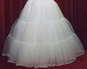 4 layer stiff net bridal petticoat custom made choice of colour and size