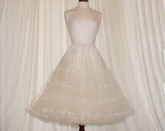 Tulle 4 layer beautiful soft  net petticoat choice of colour and size