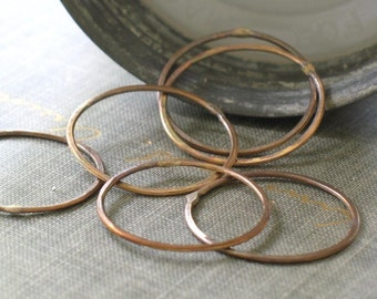 large oxidized brass circles