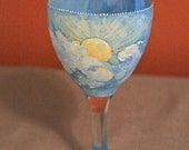 A Little Ray of Sunshine: Painted Wine Glass