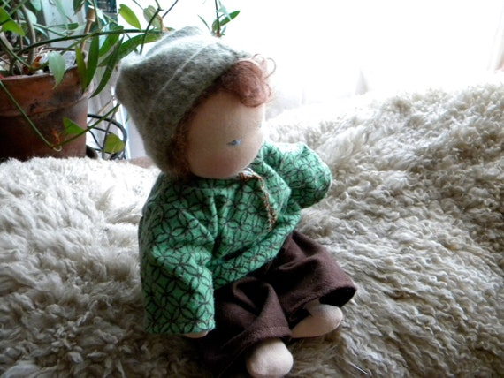 Custom doll made just for you waldorf style soft doll with clothes and personality plus