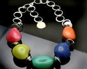 River Rock Necklace Kit. Pick your colors plus directions.