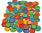 Tagua Thin Slices: Mixed Colors Tagua nut Slices, Top drilled, 10pcs / Vegetable Ivory, Eco Beads, Organic beads, Natural Beads, Nuts