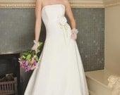 Sample Sale - Size 10 - Wedding Dress Couture Eco-friendly Organic Linen Boszilkov LOUISA