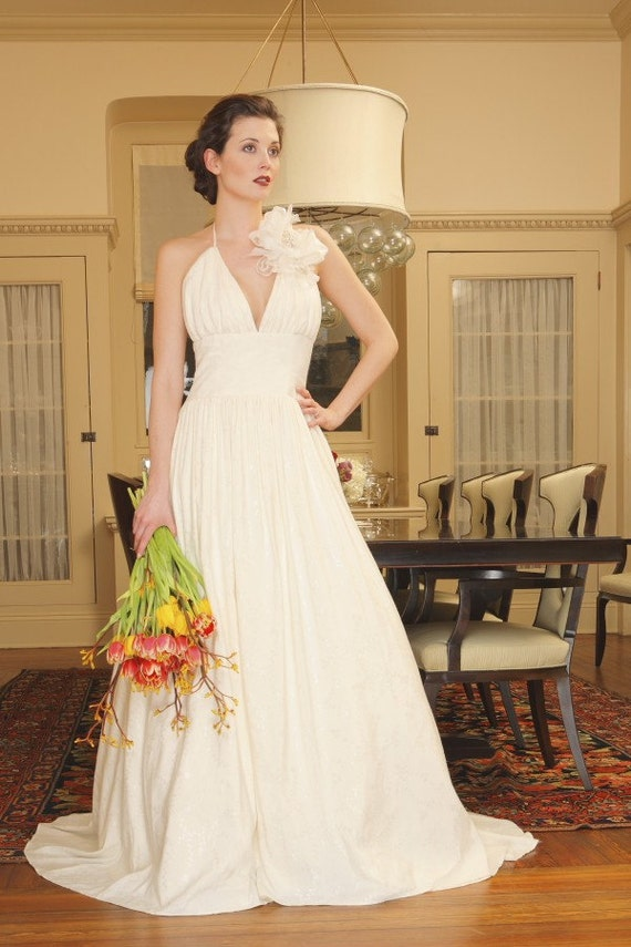 Couture eco friendly wedding dress morgan boszilkov charlotte for Eco friendly wedding dresses