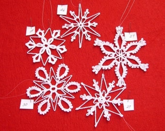 PDF Patterns for 5 Crocheted Snowflakes - set 6