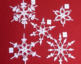 PDF Patterns for 5 Crocheted Snowflakes - set 16