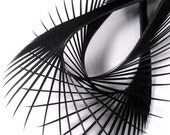 RESERVED FOR 'jesscurtis808' - Spiked Elegance - Black & White Feather Earrings