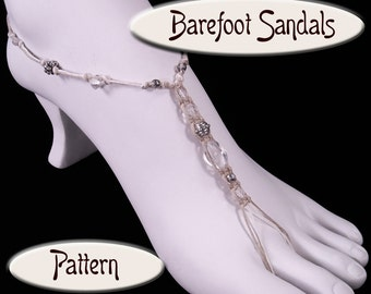 Hemp Barefoot Sandal PATTERN, PDF Instructions