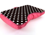 Large Pink and Black Polka Dot Lap Desk