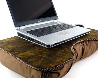 Large Brown Batik Lap Desk