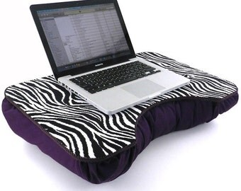 Large Purple Zebra Lap Desk