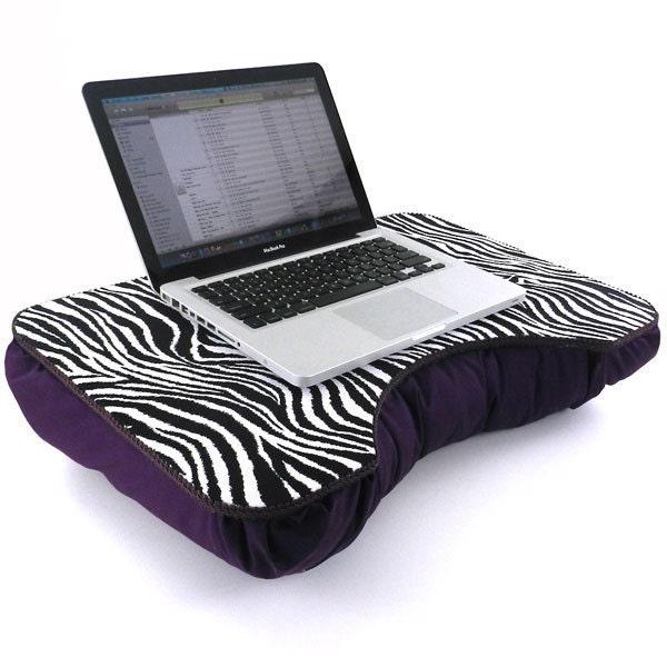 Purple Zebra Lap Desk