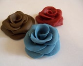 Six Gumpaste/Fondant Roses (medium) wedding/cake toppers