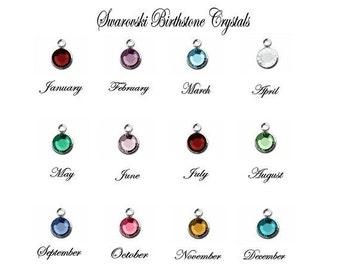 Swarovski Crystal Birthstone ADD ON -- Drop Style