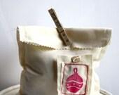 Christmas Collection Fabric Gift Bag - Ornament