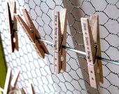 Set of 12 Clothespins - live love laugh