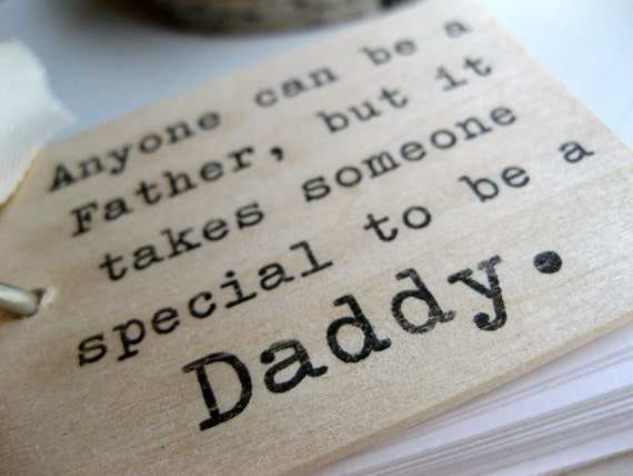 """Father's Day - 3"""" x 2"""" Wood Mini Notepad - A Special Daddy"""