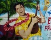 Here's Elvis...... fabric panel
