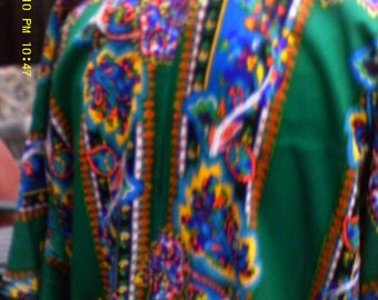 Vintage Multi Colored Caftan...free U.S. shipping