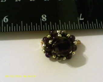 Amethyst brooch/handmade