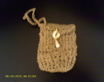 Handmade  Hemp wristlet.........cell phone case