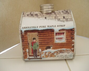 Maple Syrup Tin