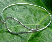 CUSTOM order for Crafty100 Sterling Silver swirl bangle bracelet