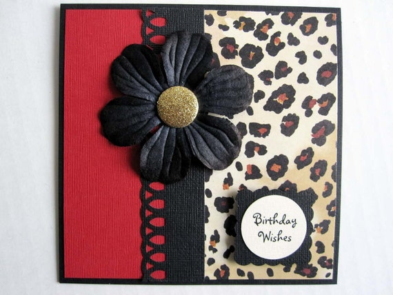 Print Happy Birthday card – Leopard Print Birthday Card