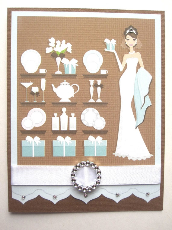 Handmade Bridal Shower or Wedding Shower card for bride to be