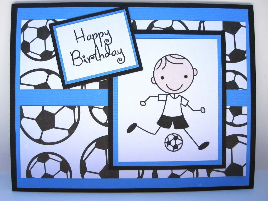 happy birthday card for young boy soccer, Birthday card