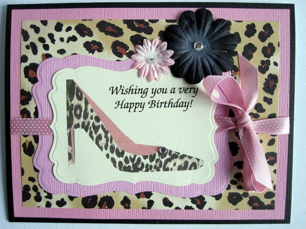 Happy Birthday card leopard print high heel by BellaCardCreations: www.etsy.com/listing/70490509/happy-birthday-card-leopard-print-high