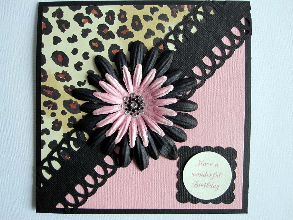 Leopard Print Happy Birthday card – Leopard Print Birthday Card