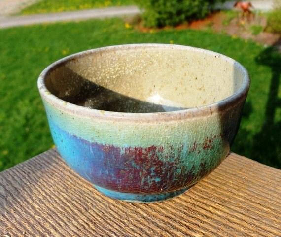 Wood-Fired Turquoise Oribe Teacup II