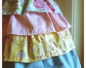 RESERVED 4 AMY----  Mamma's Super Frilly Heirloom Apron - Roses and  Chandeliers // BIG POPPETT by Little Poppett //