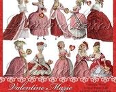 Valentine Marie Paper Dolls