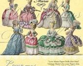 Love Marie Paper Dolls - Set One