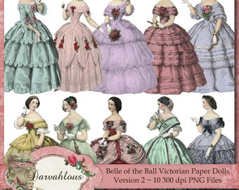 Belle of the Ball Paper Dolls Version Two