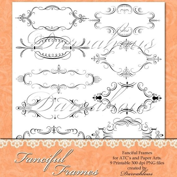 Fanciful Frames PNG Files
