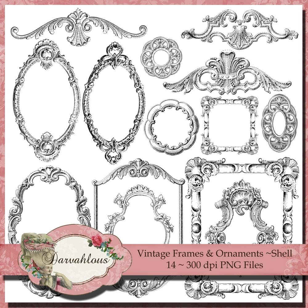 Ornaments Frame Png Vintage Frames And Ornaments